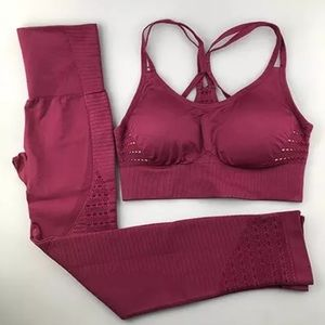Berry Energy Seamless Compression Activewear Set